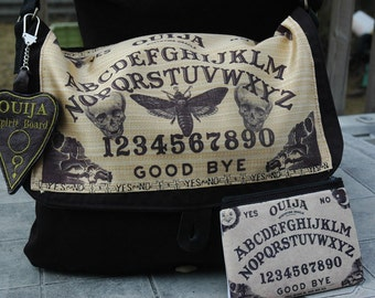 Ouija Board Messenger Bag Spirit Board with matching coin purse Halloween Dark Decor