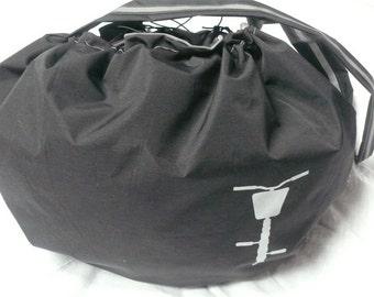 Cycling bag,big bag for bicycle basket bag, waterproof bag with reflective material, black