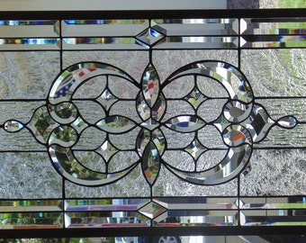 Stained Glass Window Hanging 32 1/4 X 18 1/4