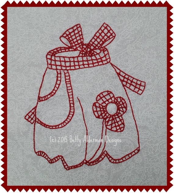 Hand embroidery pattern vintage apron pdf betty alderman designs