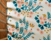ORGANIC Crib Sheet Floral - Fitted