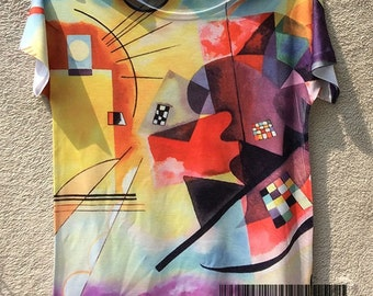 t-shirt art woman Kandinsky