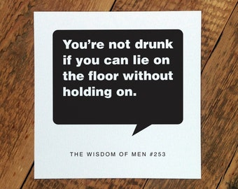 18th Birthday Card For Men; 'Drunk' (GC100)