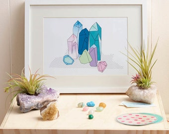 Crystal Points Print - A4