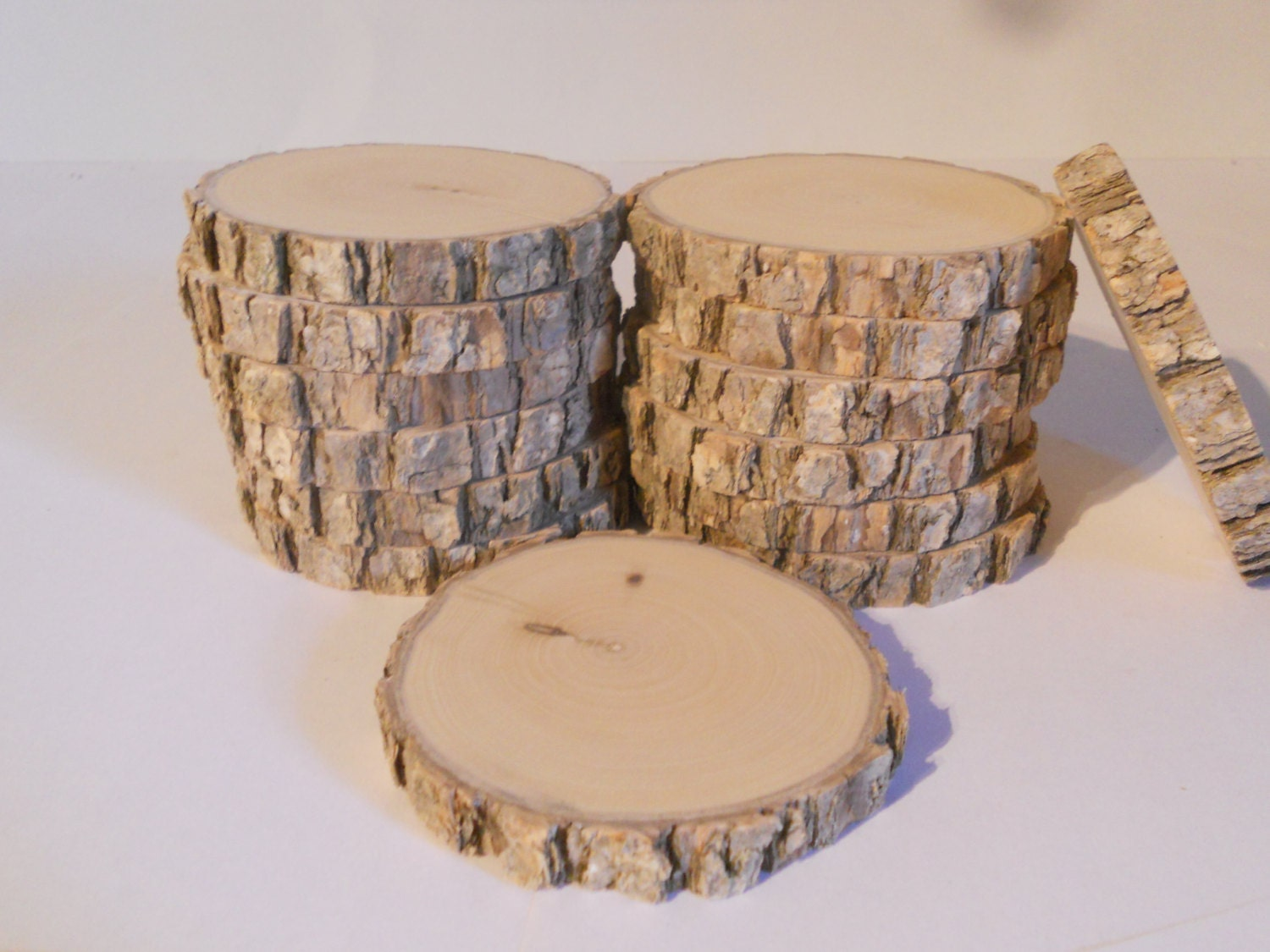 14 oak log slices 3 wood slices diy craft by