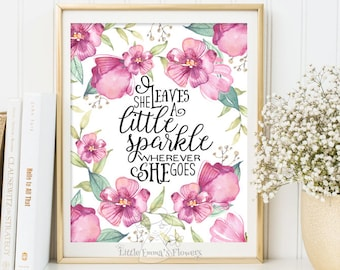 Little Sparkle print Kids Wall Art Quote Print wall decor inspirational quotes nursery decor Motivational quote art Positive Art  ID197