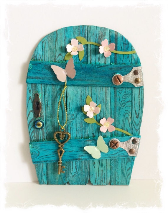 Handcrafted fairy door gnome pixie door by for Idea behind fairy doors