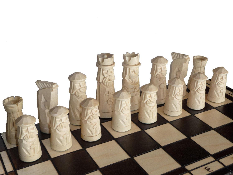 Unique Wooden Handmade Chess Set 55x55cm By Stylishchess