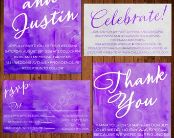 Watercolor Wedding Package (Many Colors Available!)