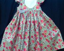 Girls heart cut out dress with full skirt