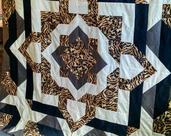 Customize this animal print quilt!