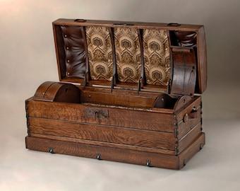 4' Vintage Wood Chest, Camel Back Trunk, Camel Back, Custom Furniture, Handmade Fruniture