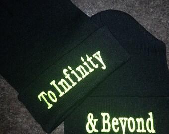 To infinity & Beyond beanie, Couple beanie, Love beanie