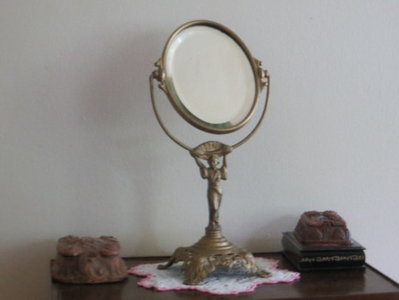 vanity mirror on stand. Like this item  Antique Vanity mirror on stand made by Golden Manufacturing
