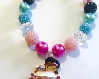 Chunky Bubblegum Necklace {girl around town}