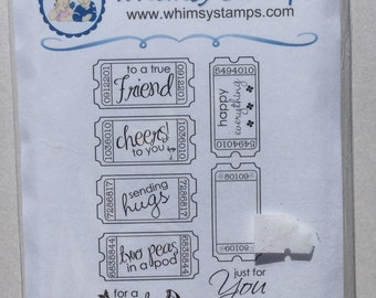 Whimsy stamps - Friendship Ticket Sentiments