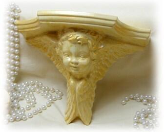 VINTAGE ANGEL SHELF . . . ceramic & plaster