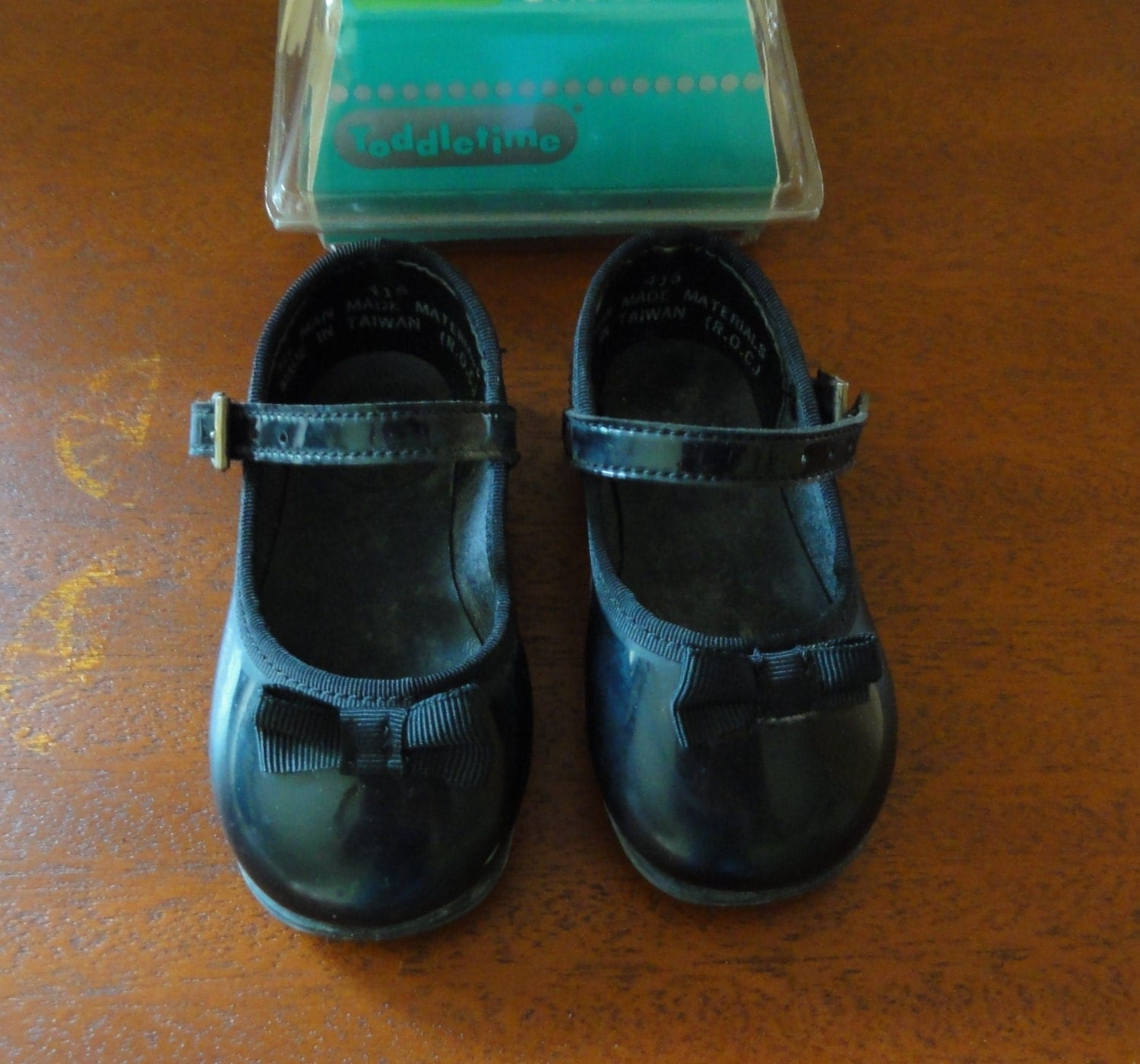 baby black patent leather shoes in by