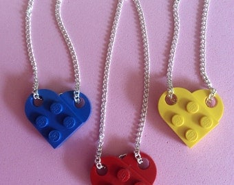 Lego loveheart necklace