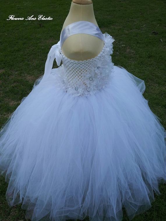 White flower girl Dress , Flower girl dress ,Baby tutu Dress,Lace Dress, tutu dress