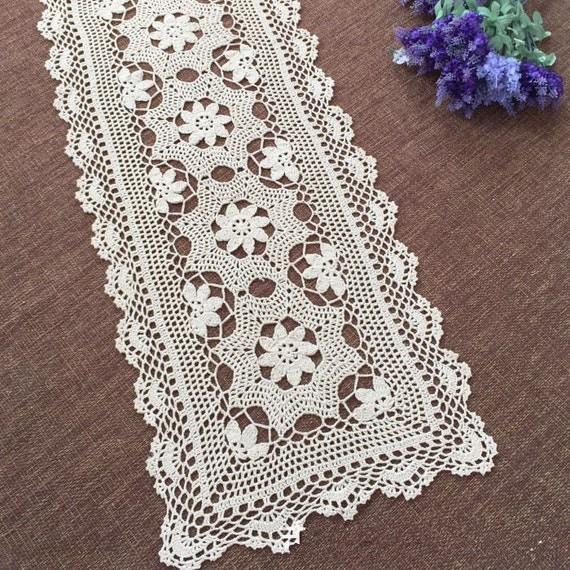 Original Hand Crochet Runner Hollow Out Crochet Pattern Table
