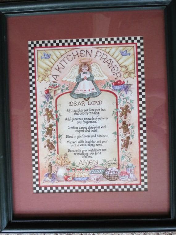 Home Interiors Angel Kitchen Prayer By Gypsyalleytreasures