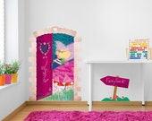 Fairy Land Door Decal Wall Sticker Ilustrated Girls Bedroom Wall Sticker