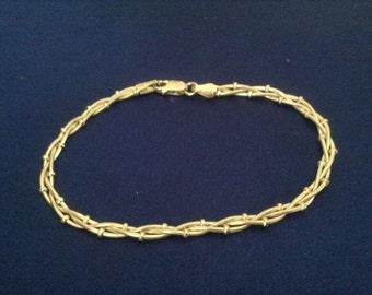 57} Braided Ball & Chain Bracelet 7 in