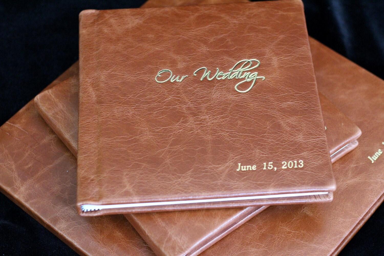 12x12 Leather Custom Wedding Album Parent Copies
