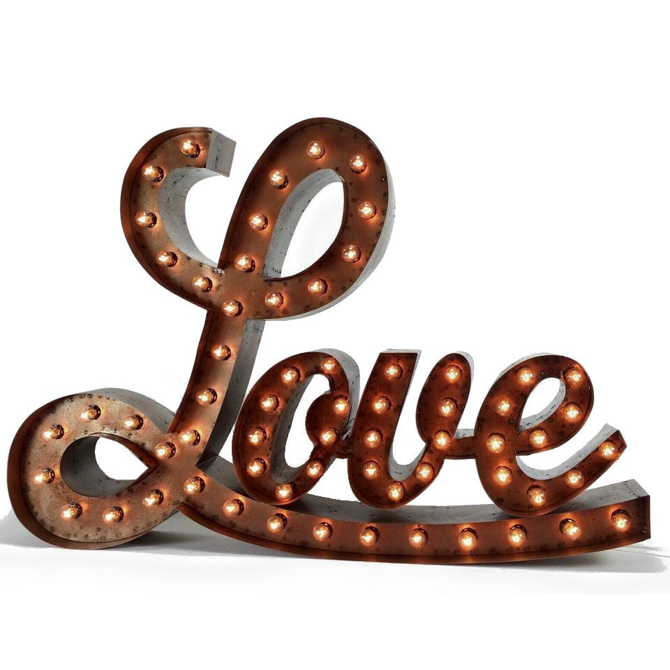 Large cursive marquee love sign love sign love light up for Love sign