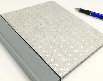 """Wedding Guest Book with lined pages, Guestbook for special events, Gray and Silver, Pages at 8.5""""x8.5"""""""
