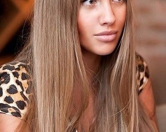 Ash Brown Blonde Mix 18/22  The Syn Invisible Hair Extensions Flip In  Couture  Angel Wire Synthetic High Heat GHD able