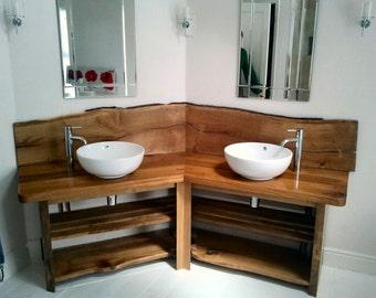 Custom Made Oak Washstand