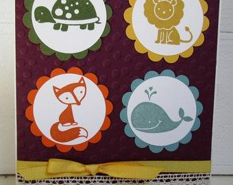 Handmade Greeting Card - Baby Animals