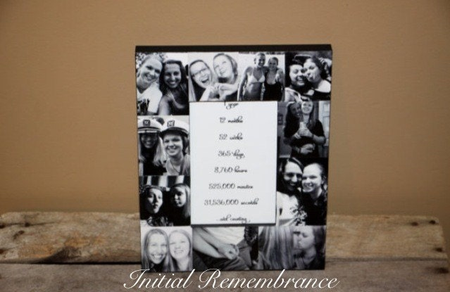 1 Year 12 Months 52 Weeks 365 Days Quotes: Custom Photo Picture Frame Anniversary, 1 Year, 12 Months