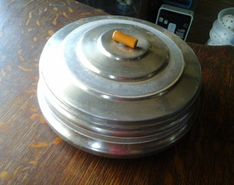 1950's Silver Metal Trinket Box