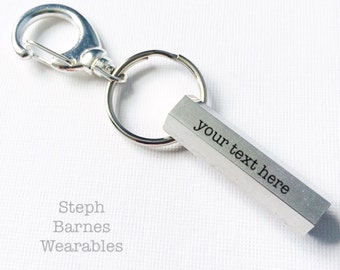 Custom key chain in aluminum (15 character max.)
