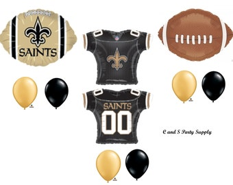 NEW ORLEANS SAINTS Football Party Balloons Decorations Supplies