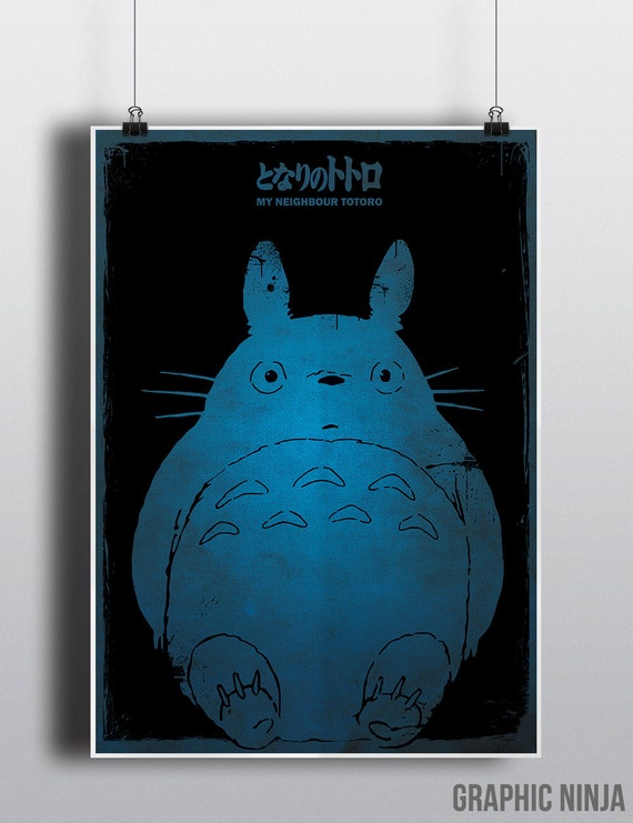 My Neighbor Totoro Poster - Studio Ghibli inspired Totoro Poster - Homewall Decor Print