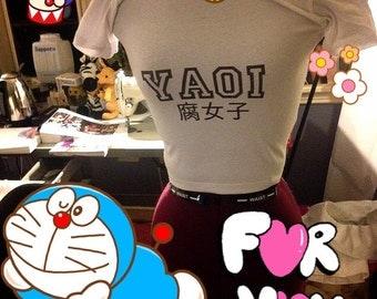 Yaoi/Fujoshi crop tee