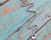 """Stainless Steel 18"""" Chain 1.5mm No. 0 Lobster Claw Clasp Necklace"""
