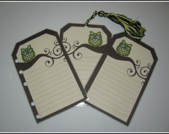 Little Owl Laminated List Bookmark For Reading, Planners & Planning, Etc