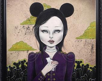 Mickey Pop Surrealism Lowbrow Giclee Art Print