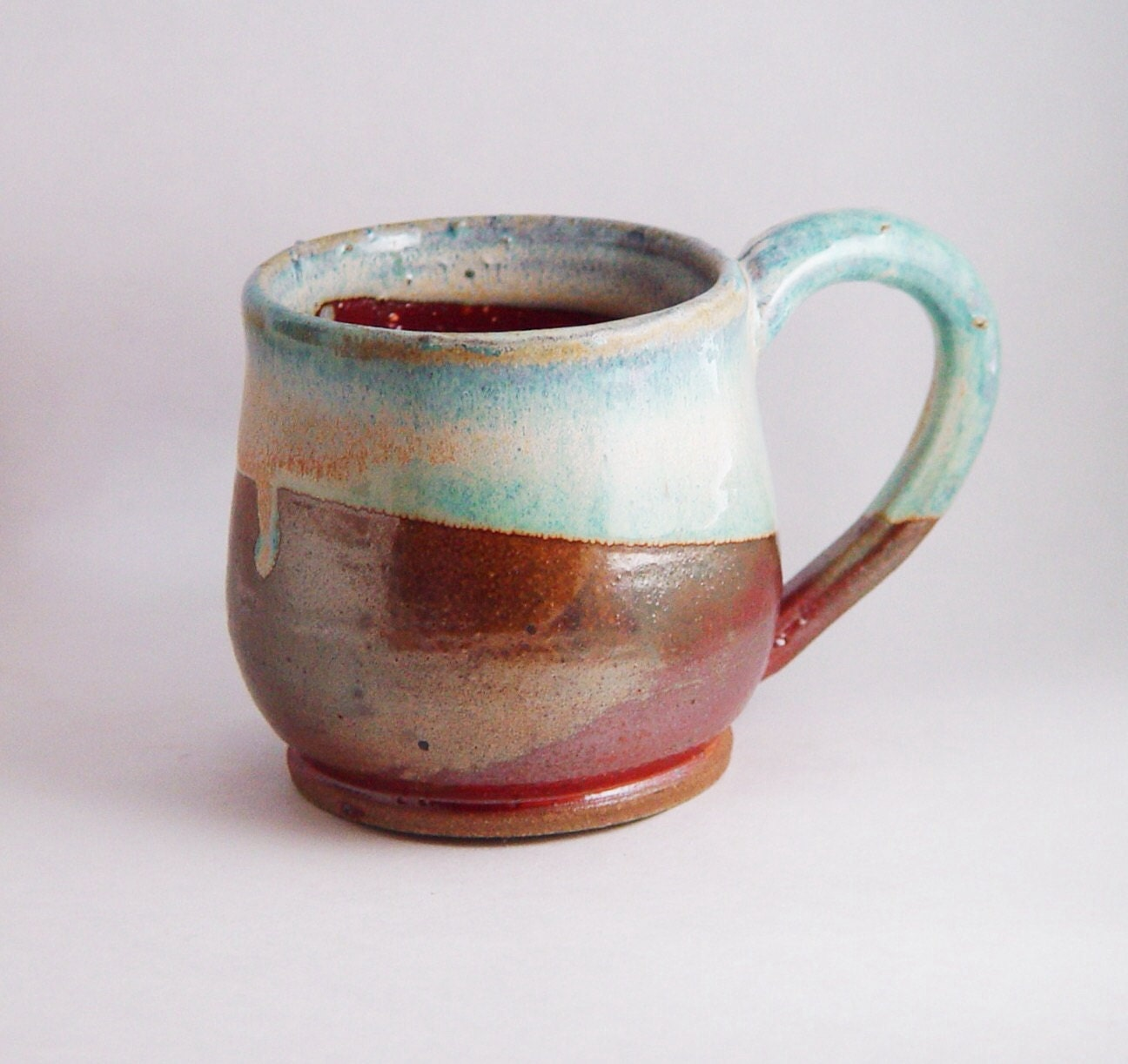 Unique Coffee Mug Tea Cup Large Handled 10 Ounce Oz Pottery