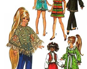 """Vintage Simplicity Pattern #9138 for 17-1/2"""" Velvet / Crissy Outfits"""