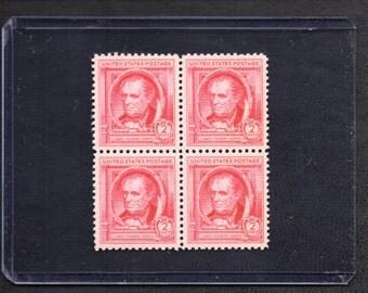 1940 James Fenimore Cooper Two Cent Unused Vintage Postage Stamps