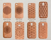 My Custom Design 'Sacred Flower of Life' Wood Phone Case iPhone 5 5s 5c 6 6s plus 7 7 plus 8 X