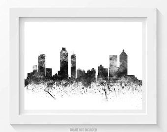 Atlanta Poster, Atlanta Skyline, Atlanta Cityscape, Atlanta Print, Atlanta Art, Atlanta Decor, Home Decor, Gift Idea 02BW