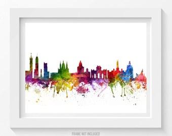 Madrid Poster, Madrid Skyline, Madrid Cityscape, Madrid Print, Madrid Art, Madrid Decor, Home Decor, Gift Idea 06