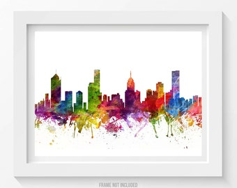 Melbourne Map Art Print Melbourne Poster Map of Melbourne